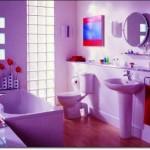 Mor Renkli Banyo Modelleri-13