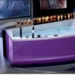 Mor Renkli Banyo Tasarımları