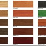 Ahşap Vernik Renk Kartelası