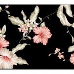 Çiçek Desenli Duvar Kağıtları-2