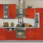 Kırmızı Ankastre Mutfak Modelleri