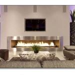 Misafir Odası Elektrikli Şömine Modelleri