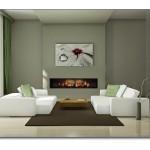 Oturma Odası Elektrikli Şömine Modelleri