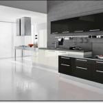 Siyah Beyaz Ankastre Mutfak Modelleri