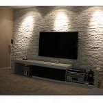 Tv Arkası Taş Kaplama Tasarımları