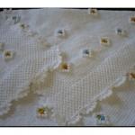 Beyaz Örgü Battaniyeler