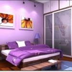 Eflatun Rengi Yatak Odası-2