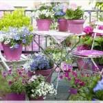 Çiçekli Balkon Dekorasyonu Örnekleri