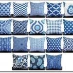 Dekoratif Mavi Yastıklar