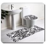 Siyah Beyaz Banyo Paspası