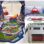 Araba Resimli Çocuk Odası Halısı