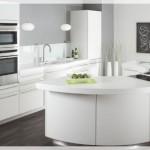 Beyaz Oval Mutfak
