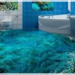 3D Deniz Temalı Banyo