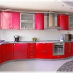 Kırmızı Mutfak Dolabı Modelleri
