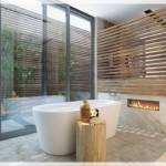 Rustik Şömineli Banyolar