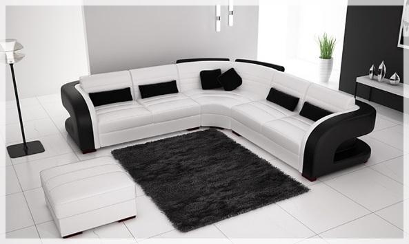 Siyah Beyaz Oturma Gruplari Dekorasyon Modelleri