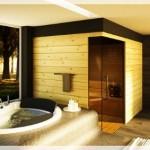 Şömineli Banyo