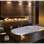 Şömineli Banyo Tasarımları
