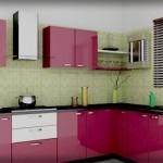 Kırmızı Hazır Mutfak Dolapları