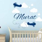İsimli Bebek Odası Sticker