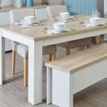 Banklı Rustik Mutfak Masaları