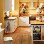 Beyaz Rustik Mutfak Dolabı
