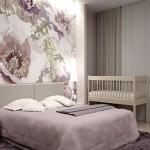 Çiçek Desenli Yatak Odası Duvar Kağıtları
