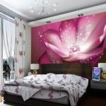 Çiçek Desenli Yatak Odası Duvar Kağıtları 2019
