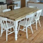 Demir Ayaklı Rustik Mutfak Masaları