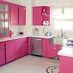 Fuşya Rengi Mutfak Dekorasyonu