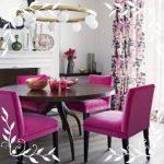 Fuşya Rengi Mutfak Sandalye
