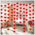 Kalp Desenli İp Perde
