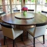 Oval Rustik Mutfak Masası
