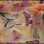 Kelebek Desenli Tül Perdeler