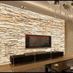 Taş Desenli Tv Arkası Duvar Kağıdı